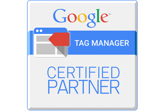 logo Google Tag Manager Certified Partner l Accreditaties l MondoMarketing l Performance Driven Digital Marketing Bureau
