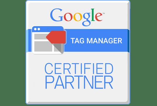 logo Google Tag Manager Certified Partner l Accreditaties l MondoMarketing l Performance Driven Digital Marketing Bureau
