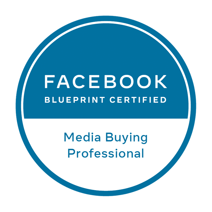 logo Facebook Blueprint Media Buying Professional l Accreditaties l MondoMarketing l Performance Driven Digital Marketing